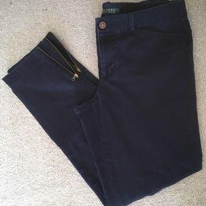 EUC Ralph Lauren Navy Pants w/ Back Leg Zippers